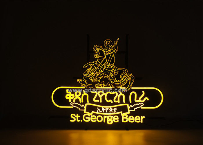 Wholesale Vivid Complex Pattern Beer brand Yellow Custom Led Neon Signs